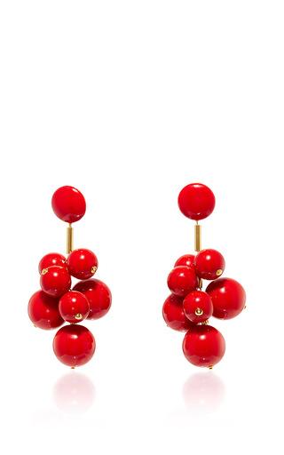 Medium marni red red acrylic earrings