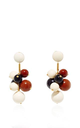 Medium marni brown tri colored resin earrings