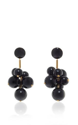 Medium marni black black resin earrings