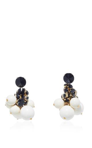 Medium marni white lily white strass earrings