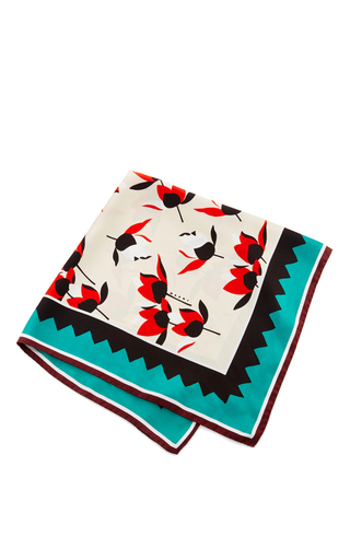 Medium marni white silk white foulard