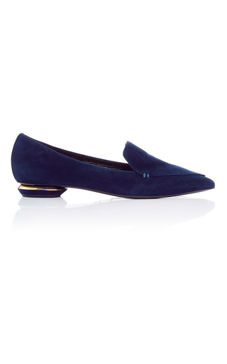 Medium nicholas kirkwood blue beya suede loafers