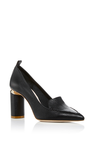 Medium nicholas kirkwood black beya block heel pumps  2