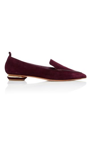 Medium nicholas kirkwood burgundy beya suede loafers  2
