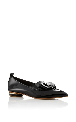 Medium nicholas kirkwood black beya bow loafers  2