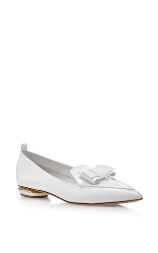 Medium nicholas kirkwood white beya bow loafers