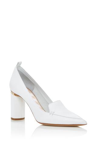 Medium nicholas kirkwood white beya block heel pumps