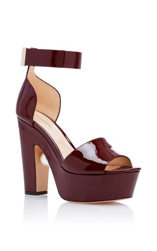 Medium nicholas kirkwood burgundy maya platform heels