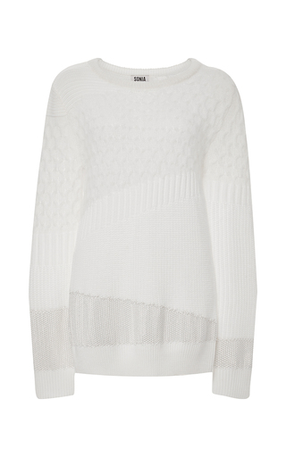 Medium sonia by sonia rykiel ivory ecru wool and mohair blend pullover