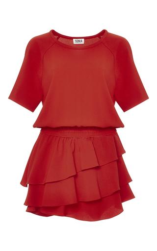 Medium sonia by sonia rykiel red fluid crepe dress