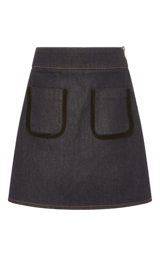 Medium sonia by sonia rykiel dark wash worker denim and velvet skirt