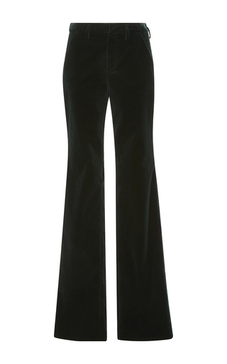 Medium sonia by sonia rykiel dark green grass velvet tailoring trousers