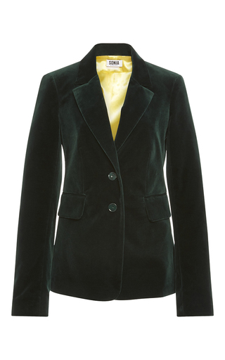 Medium sonia by sonia rykiel dark green grass velvet tailoring jacket