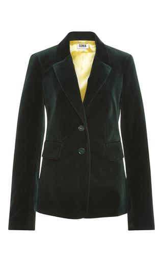 Medium sonia by sonia rykiel dark green grass velvet tailoring jacket