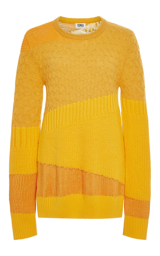 Medium sonia by sonia rykiel orange butternut wool and mohair blend pullover