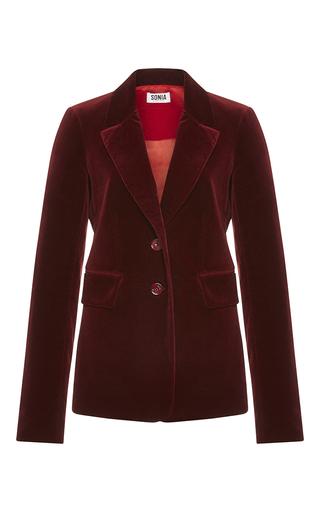 Medium sonia by sonia rykiel burgundy wine velvet tailoring jacket
