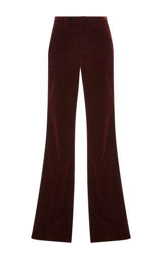Medium sonia by sonia rykiel burgundy wine velvet tailoring trousers