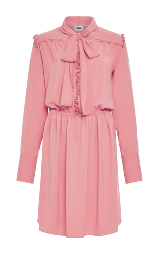 Medium sonia by sonia rykiel coral charmeuse dress