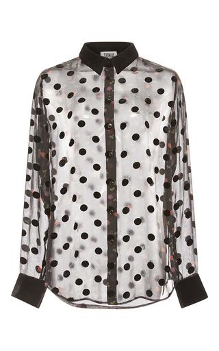 Medium sonia by sonia rykiel black printed burnout velvet shirt