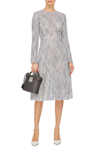 Long Sleeve Tweed Flare Dress by TOME Now Available on Moda Operandi