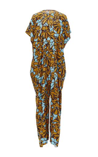 Medium tome blue floral printed oversized jumpsuit