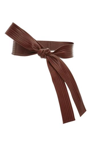Medium tome brown whiskey leather karate belt