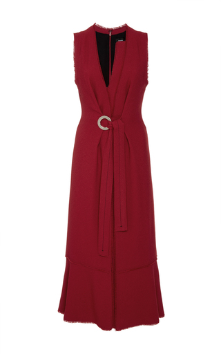Medium proenza schouler burgundy crepe knot front dress