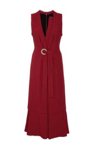 Medium proenza schouler burgundy crepe knot front dress