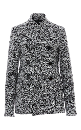 Medium proenza schouler grey boucle jacquard coat