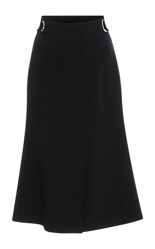 Medium proenza schouler black crepe belted skirt