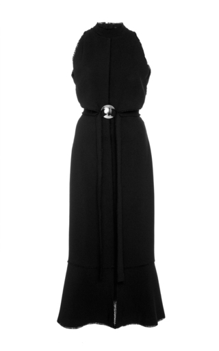 Medium proenza schouler black crepe cut out dress