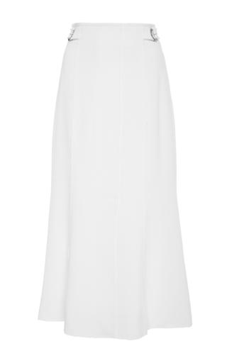 Medium proenza schouler ivory flared crepe skirt