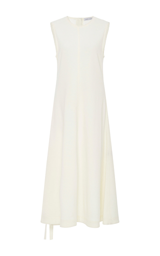Medium proenza schouler ivory wool jersey flared dress