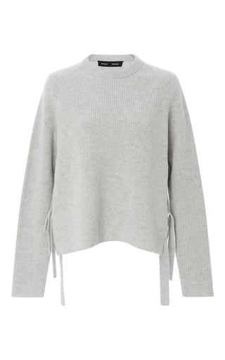 Medium proenza schouler light grey cashmere wool side tie sweater