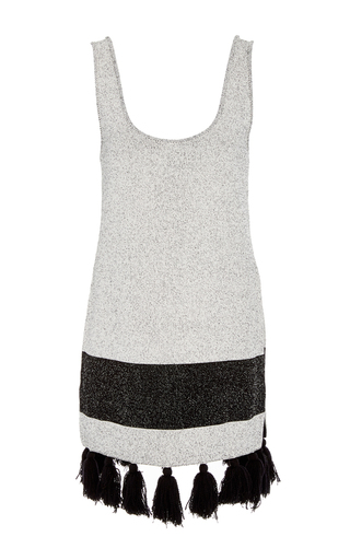 Medium proenza schouler black white tweed knit tunic