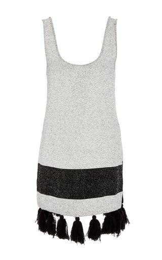 Medium proenza schouler black white tweed knit tunic
