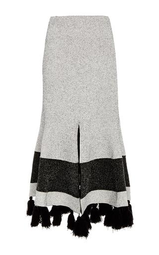 Medium proenza schouler black white tweed knit flared skirt