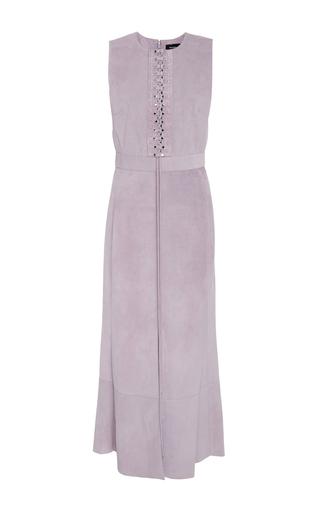 Medium proenza schouler purple raw suede dress