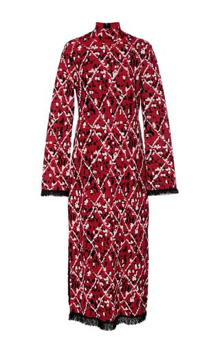 Medium proenza schouler red jacquard turtleneck dress