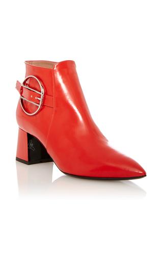 Medium pollini red red calf leather boot