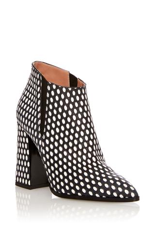 Medium pollini white white pop printed calf geometric boots