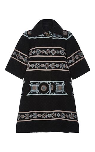 Medium elie saab multi striped flower macrame swing coat