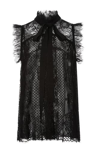 Medium elie saab black lace sleeveless top