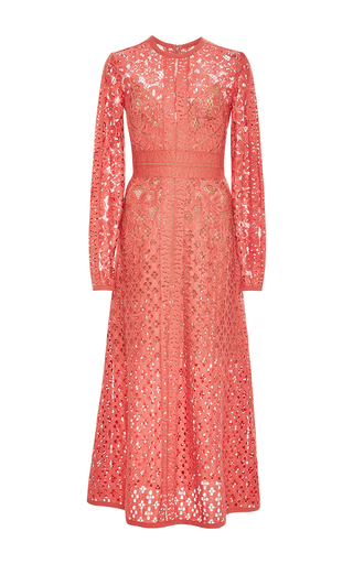 Medium elie saab pink guipure lace dress