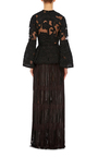 Fil Coupe Peplum Top by ELIE SAAB Now Available on Moda Operandi