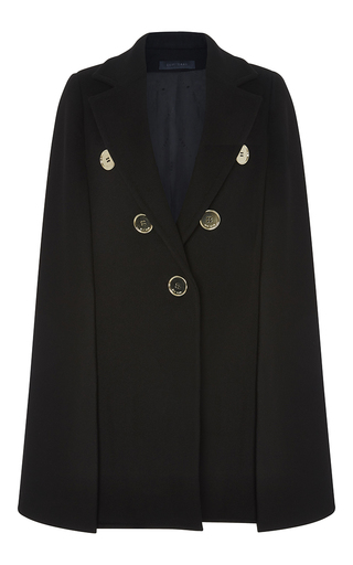 Medium elie saab black double sided cashmere blend cape