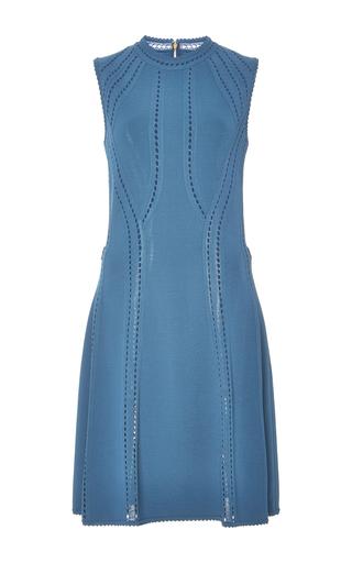 Medium elie saab navy sleeveless knit short dress