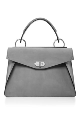Medium proenza schouler light grey hava suede top handle bag