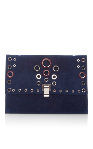 Medium proenza schouler navy large lunch bag with grommets