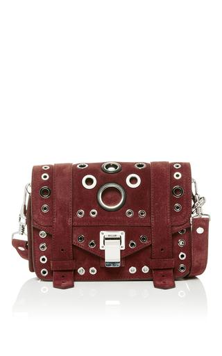 Medium proenza schouler burgundy ps1 eyelet mini crossbody bag